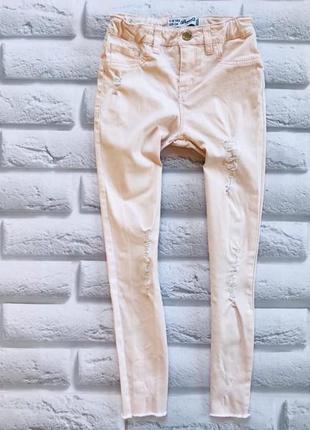 Denim  стильные джинсы на девочку  7-8 лет