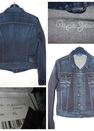 Куртка из стрейч денима pepe jeans