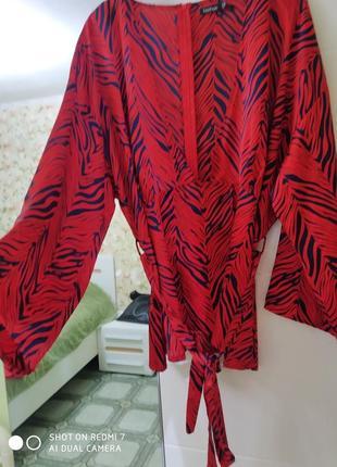 Шикарная вечерняя блуза большой размер