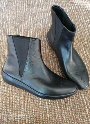 Ecco оригинал деми ботинки натуральная кожа, 36p