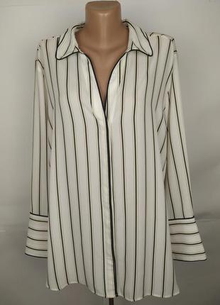 Блуза тредовая в полоску большой размер marks&spencer uk 20/48/3xl