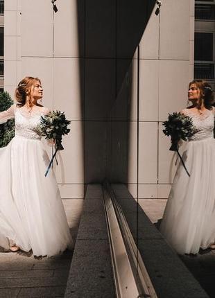 Платье свадебное сукня весільна минимализм мінімалізм бохо тренд 2020