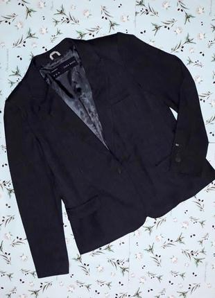 🎁1+1=3 стильный женский темно-серый пиджак zara basic, размер 48 - 50