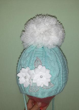 Шапка зимняя + шарф