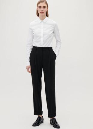 Легендарные чёрные штаны со стрелками укороченные брюки с отворотами завышенная посадка