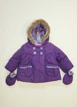 Милая демисезонная курточка m&s малышке 3-6 мес