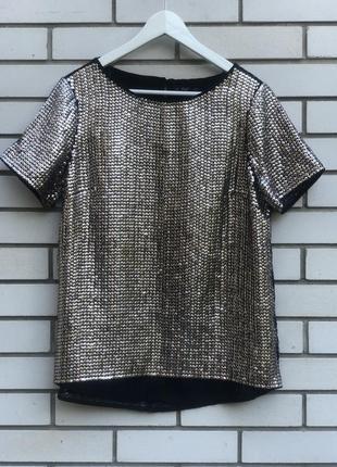 Блузка с вышивкой пайетками f&f