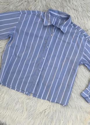 Крутая свободная рубашка в полоску oversize раз.s-m