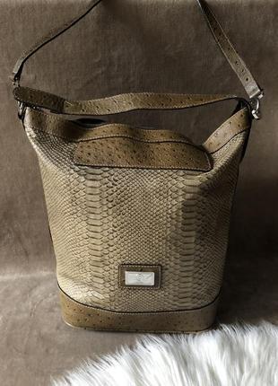 Женская шикарная кожаная сумка шопер мешок bogner