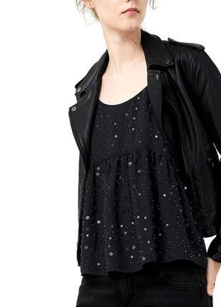 Новая блуза топ кофточка на бретелях в звездочки mango