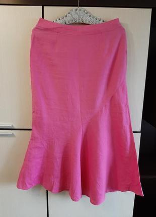 Льняная юбка promod