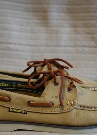 Мягкие фирменные кожаные топсайдеры песочного цвета gaastra голландия  41 р.