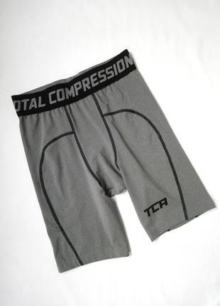 Серые спортивные компрессионные шорты tca