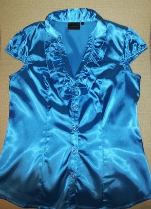 Рубашка, блуза с коротким рукавом в офис, rainbow,s-m
