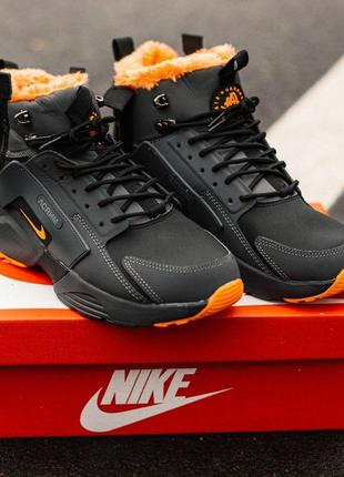 Мужские кроссовки nike huarachi acronym winter black\orange