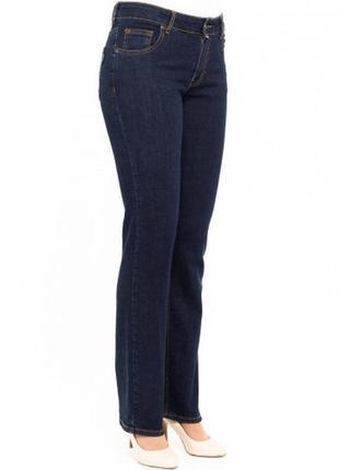 Джинсы cross jeans rose р. 48-50-52 (34/32)синие прямые,классика,не широкие,тянутся