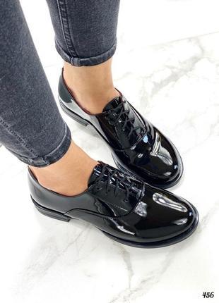 Туфли материал: натур. кожа лак