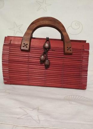 Сумка, сумочка, солома, фактурная сумочка