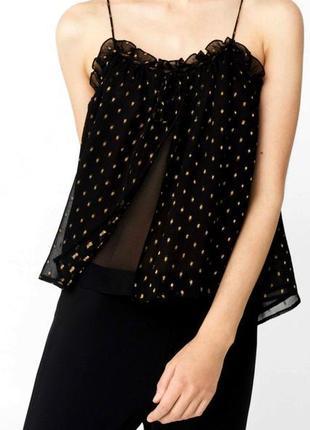 Новая двойная блуза топ кофточка на бретелях mango