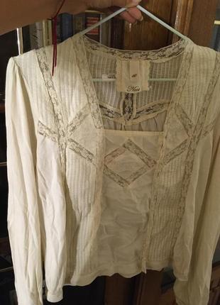Блузка натуральная для школы