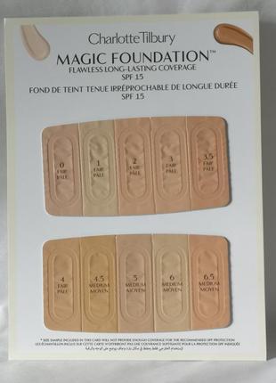 Charlotte tilbury magic foundation пробники тональной основы