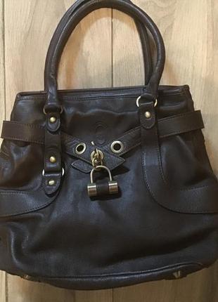 Фирменная сумка из натуральной кожи smith& canova