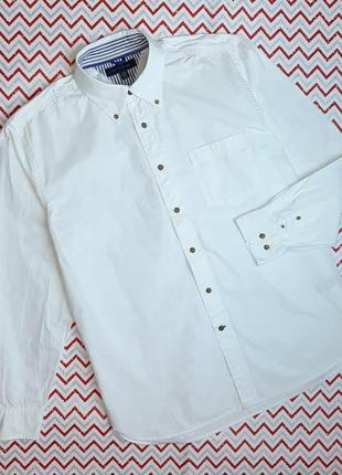 😉1+1=3 фирменная белая рубашка сорочка с длинным рукавом tommy hilfiger размер 50 - 52
