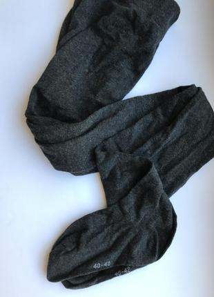 Женские трикотажные хлопковые колготы, цвет темно-серый меланж