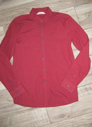 Рубашка в клетку h&m рост 164см
