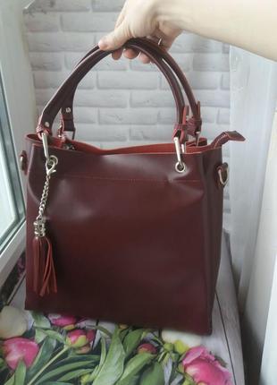 Женская кожаная сумка жынояа шкіряна