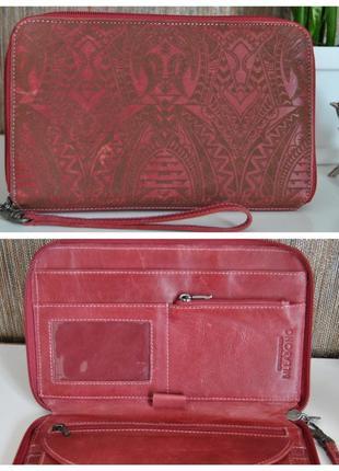 Кожаный клатч кожаная сумка / органайзер холдер /портомоне /шкіряний гаманець