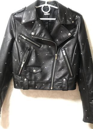 Кожаная куртка miu miu оригинал! коллекция 2020!