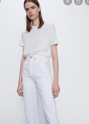 Новые джинсы zara с высокой посадкой и прямыми штанинами
