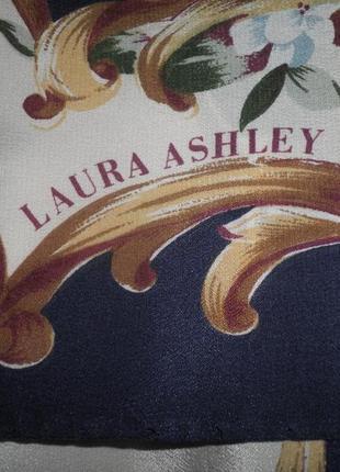 Нежный шарф плотный шёлк креп де шин laura ashley 88х86см италия качество