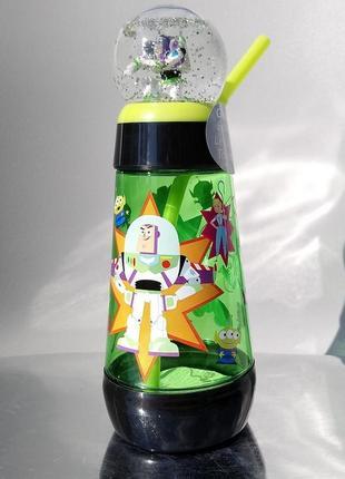 Поилка с соломкой и снежным шаром история игрушек disney оригинал
