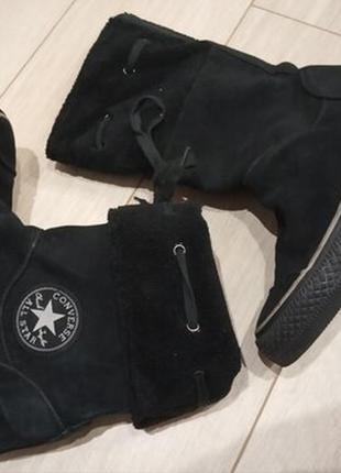 Замшевые ботинки сапожки деми