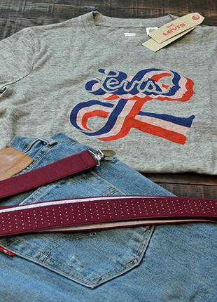 Levis серая футболка размер s/m ($34) 100% оригинал из сша