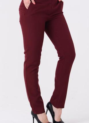 Классические брюки (бордовые)