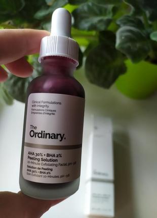 Кислотный пилинг сыворотка для лица the ordinary aha 30% + bha 2% peeling solution