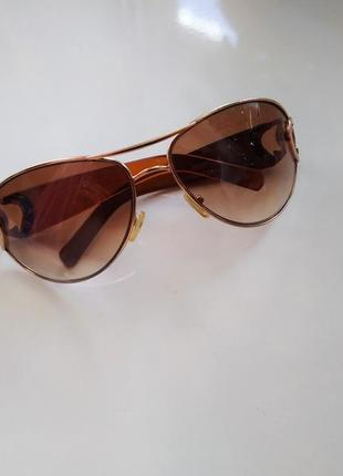 В подарок к покупке коричневые женские солнцезащитные очки авиаторы линзы градиент