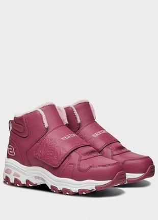 Оригинальные детские ботинки skechers d'lites series, нежно красного цвета (664136l ras)