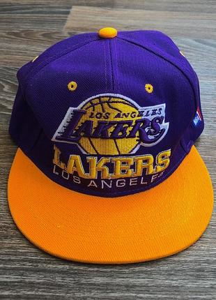 Оригинал фиолетовая оранжевая кепка баскетбол лейкерс лос-анджелес lakers los-angeles nba