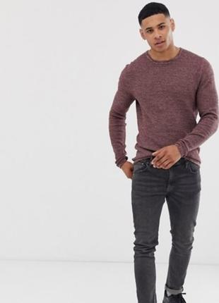Весенний свитшот реглан джемпер свитер knit only&sons