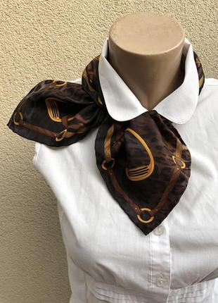 Маленький,шелковый платок,косынка,codello,премиум бренд,