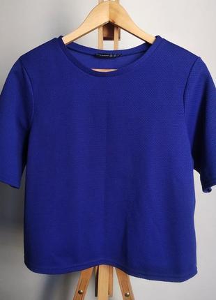 Плотная футболка/блузка primark (atmosphere) ярко-синего цвета