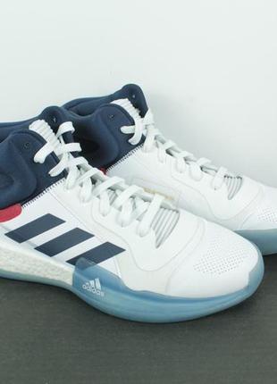 Оригинальные баскетбольные кроссовки adidas marquee boost white blue