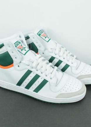 Оригинальные кожаные кроссовки adidas originals top ten hi