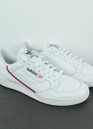 Оригинальные кожаные кроссовки adidas continental 80