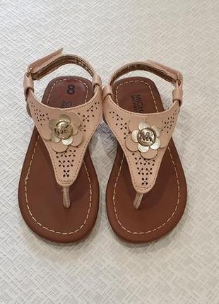 Michael kors детские босоножки сандалии. оригинал. us 8