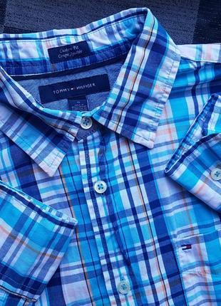 Брендовая топовая модная рубашка в клетку м tommy hilfiger